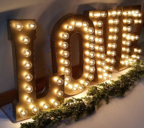 Large Gold Marquee Light