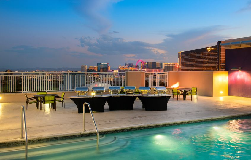 Rooftop Pool with Event Setup