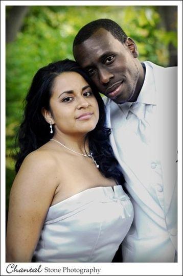 Mr. and Mrs. Nijel Mills - Wedding Day Photo