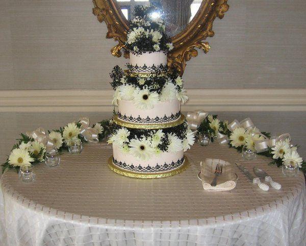 Tmx 1238376527921 BlackLaceWeddingCake Pawtucket, RI wedding cake