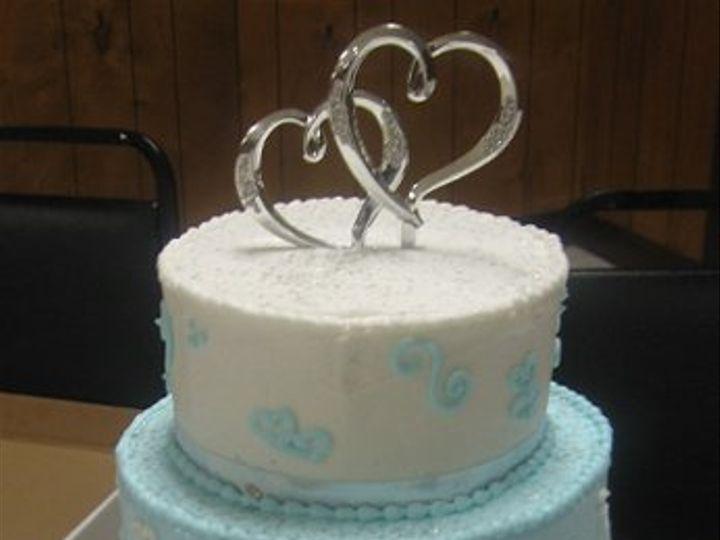 Tmx 1296159561284 BlueWhiteWeddingCake Pawtucket, RI wedding cake