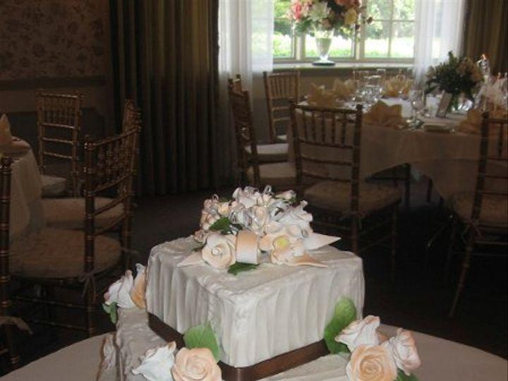Tmx 1296159842940 BrownRibbonRosesWeddingCake Pawtucket, RI wedding cake