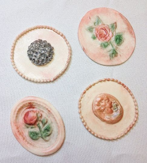 cupcake toppers shabby chic