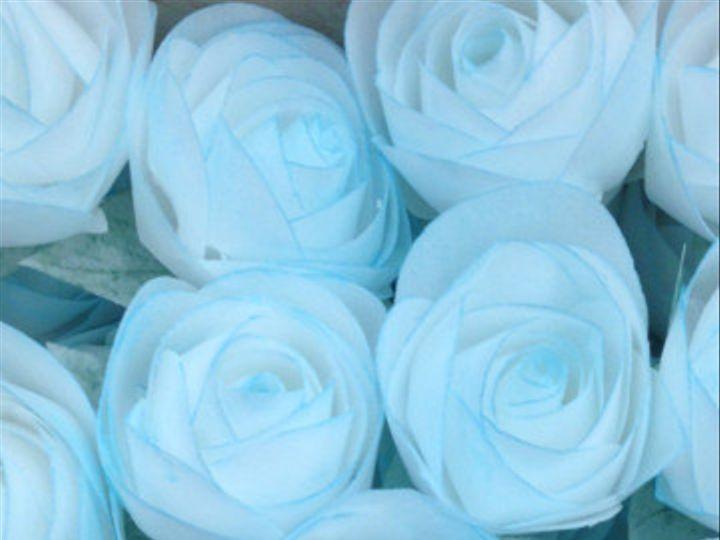 Tmx 1425521698129 Wafer Paper Roses Blue Bunch Orlando wedding cake