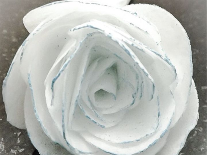 Tmx 1425521704815 White And Blue Wafer Rose Orlando wedding cake