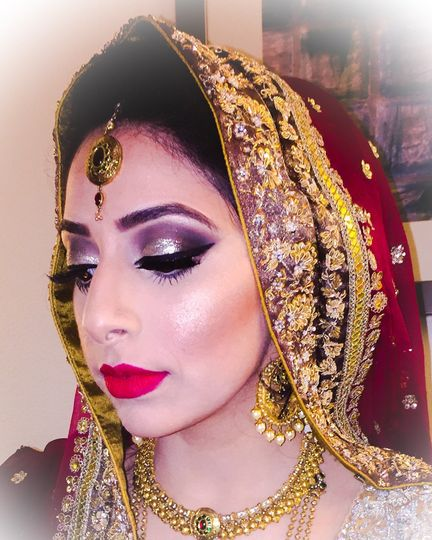 My beautiful bride at a recent south Asian wedding event.