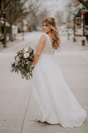 Stunning winter bride