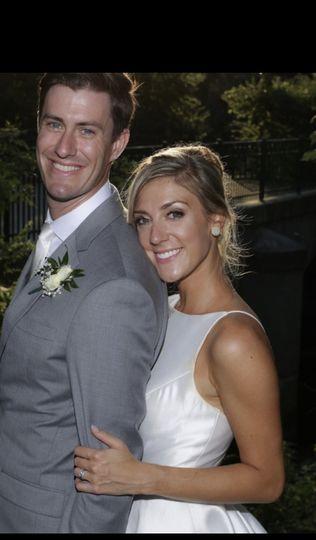 Glowing happy bride