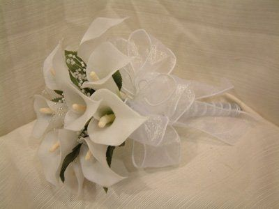 Calla Lillies Wrapped with Ribbon of Your Choice!