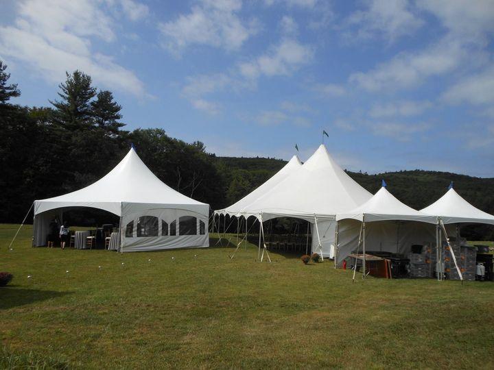 Exterior of high peak tents