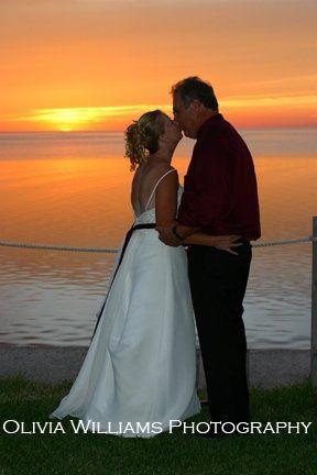 sunset wedding at hernando beach club