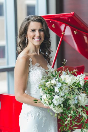 Bride in Varia w/ Baby Grand