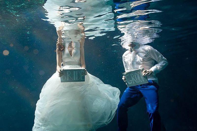 Creative underwater shot