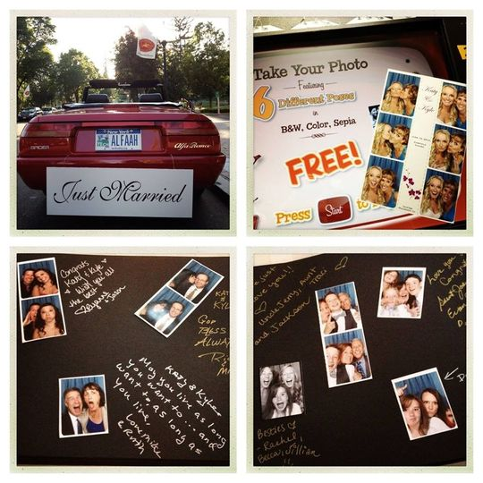 Photobooth Scrapbooks Are the Greatest Guestbook Idea!