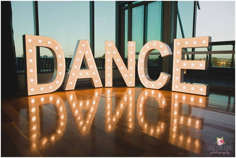 Giant lighted marquee letters