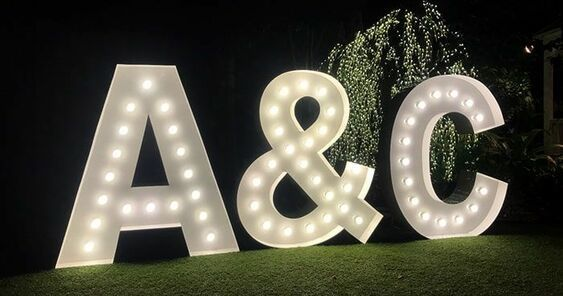 Your giant initials in lights