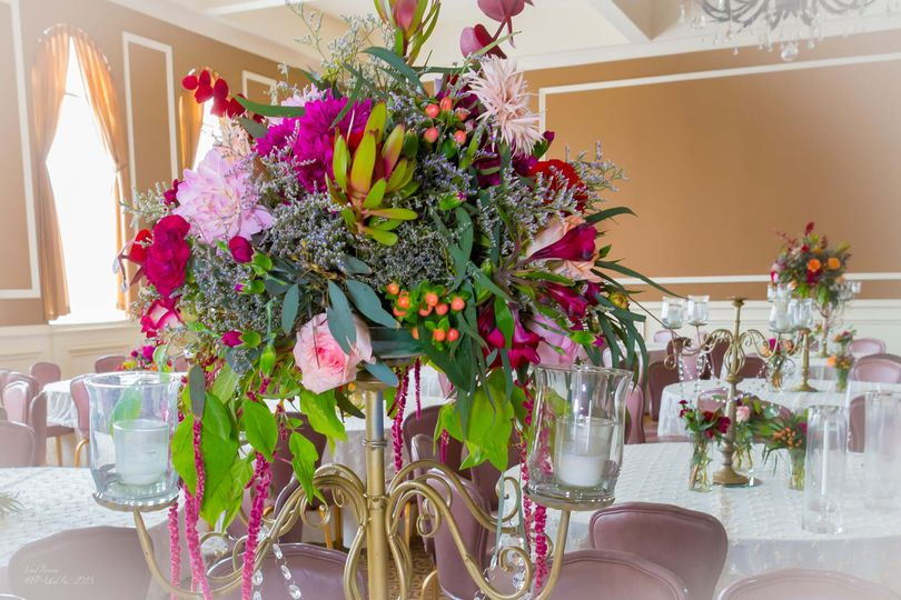 Bold and bright centerpieces