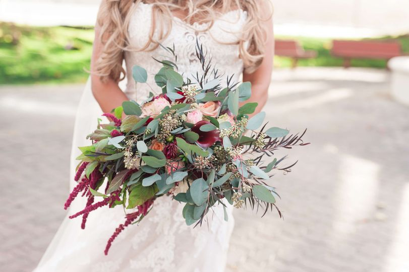 A bohemian-inspired bouquet