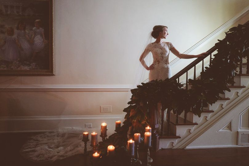 Candles by the stairs