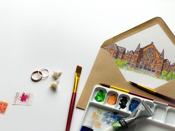 Watercolor Envelope Liner