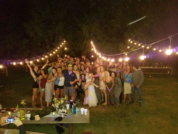 Summer night weddings