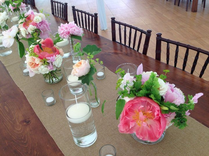 Simple and soft design for farm tables