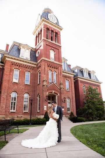 Wedding Couple at Woodburn Hal