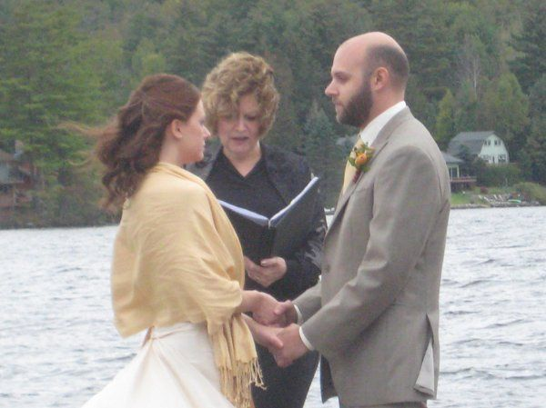 Saratoga Wedding Officiant Reverend Joy Burke Point O Pines  Adirondack Wedding