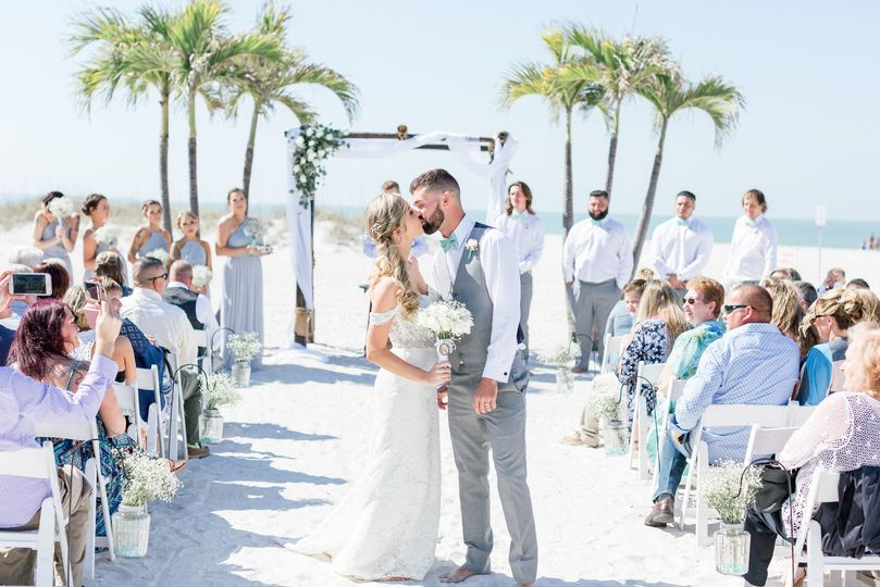 St Petersburg beach wedding