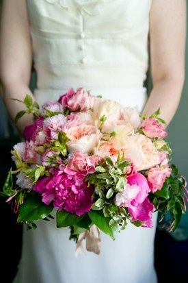 Tmx 1421117830047 Nomendeu Pink Rose And Peony Bouquet 275x413 Delaplane wedding florist