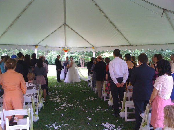 Wedding Sound Systems with microphone on Officant