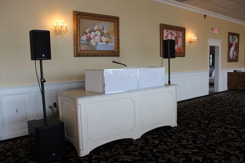A simple white setup