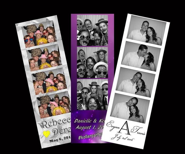 Photo booth image strips