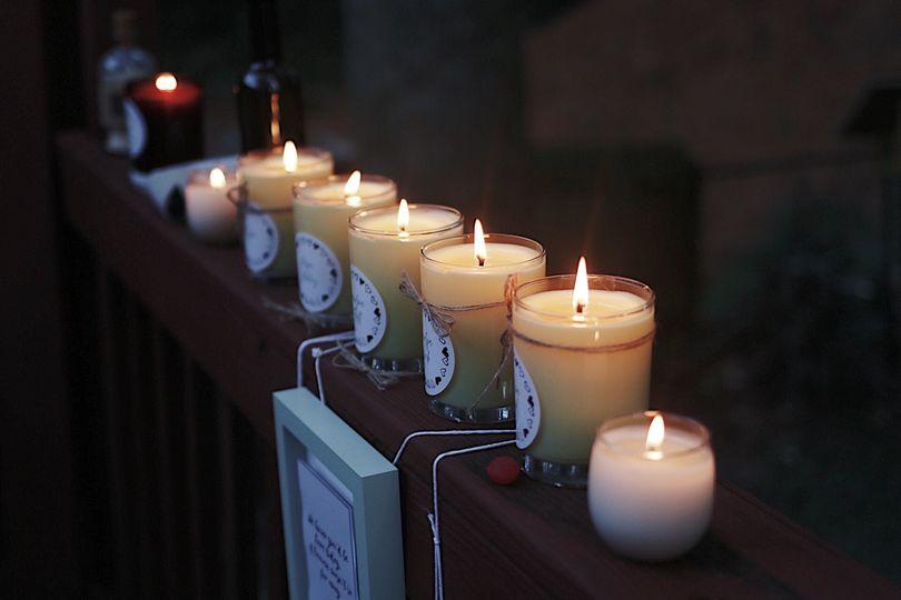 Custom memorial candles