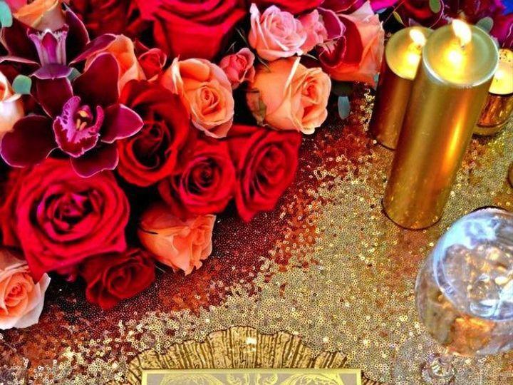 Tmx 1467214998634 Gold Flora Charger Lasar Linens Floral Park wedding rental