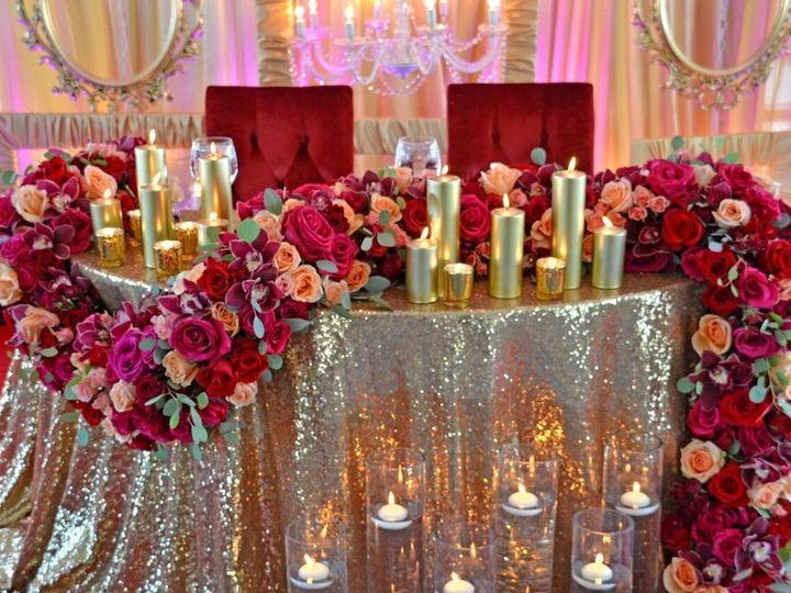 Tmx 1467215004576 Gold Sequin Linen Lasar Linens Floral Park wedding rental