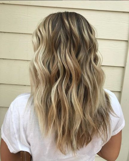 Wavy sleek locks