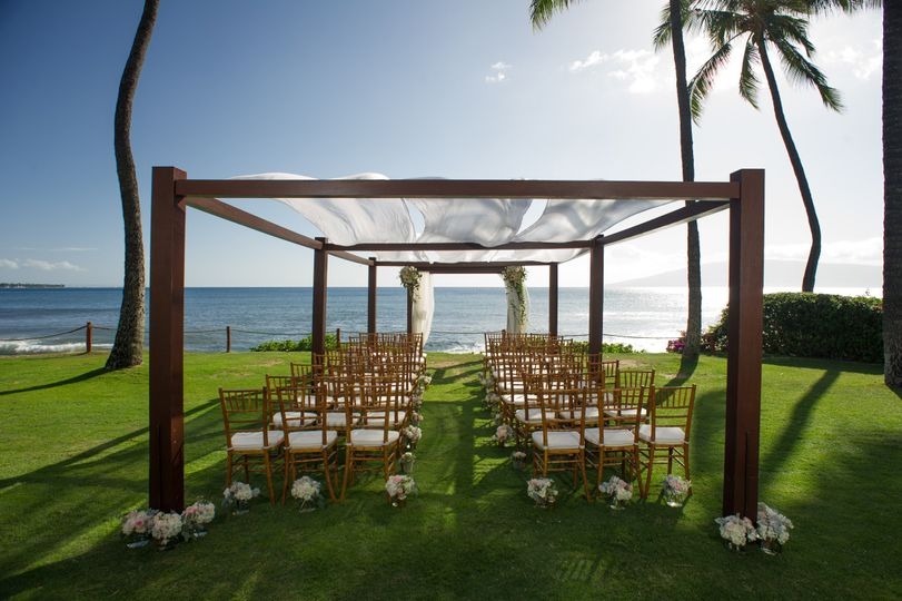 Covered wedding ceremony set-up