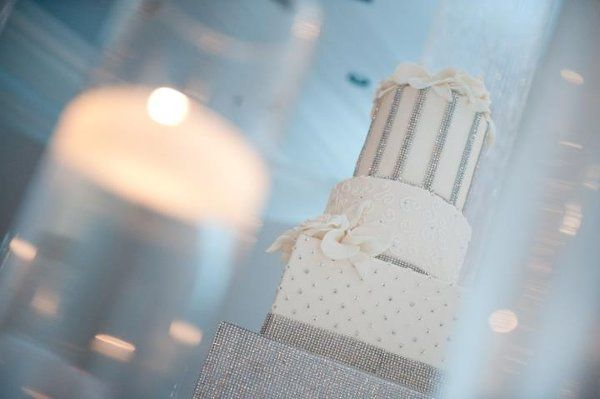 White Crystal Wedding cake