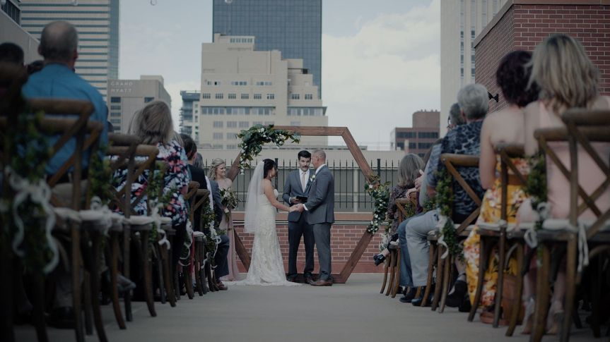Wedding on a rooftop