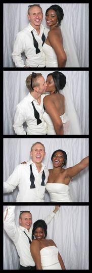Sample photo strip from a Red Curtain Photo Booth event.
