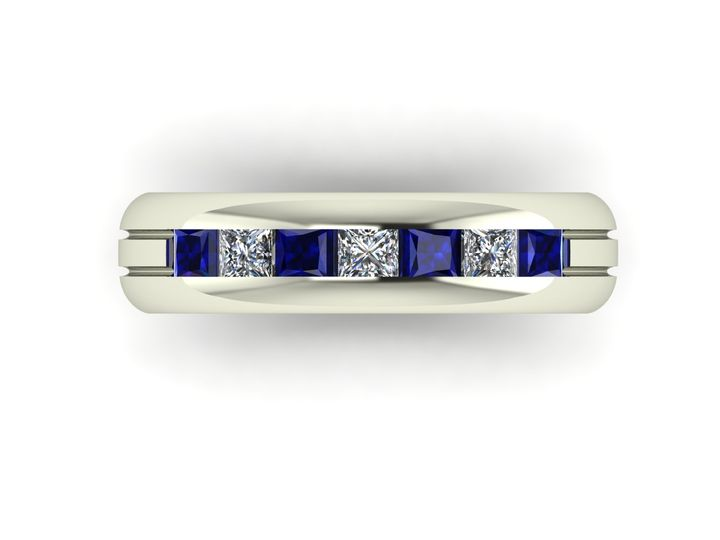 Tmx 7stone Mens Channel Set Ring 6mm Wide 0010043 51 1026527 Portland, Oregon wedding jewelry
