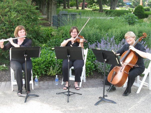 Flute/violin/cello trio at franklin park conservatory west terrace