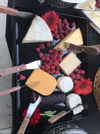 Decadent cheese platter
