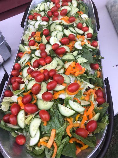 A vibrant summer salad