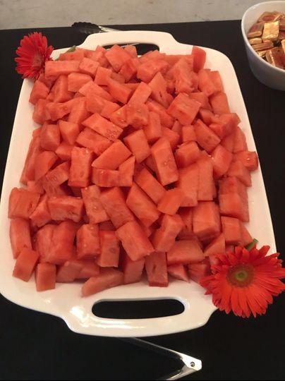 Fresh chopped fruit for loved ones