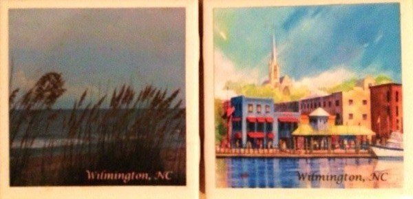 Give your guest a coaster of your wedding town or a picture that you like, personalized for your...