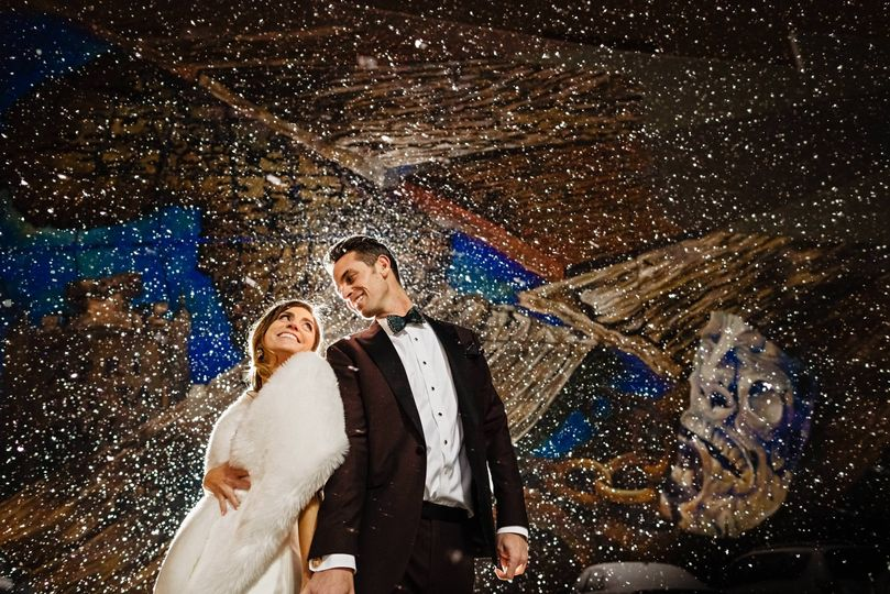 A snowy Wedding night!