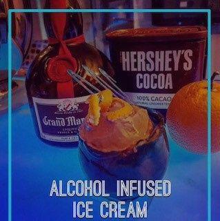 Alcohol infused ice cream