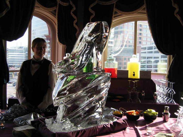 Tmx 1375105476087 1840s Ballroom Ice Luge 2   Email Elkridge, MD wedding catering